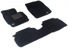 Коврики в салон для Hyundai Elantra MD '11-15 текстильные 3D чёрные (3D Mats)