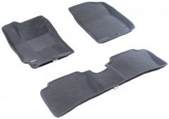 Коврики в салон для Hyundai Accent (Solaris) '11-17 текстильные 3D серые (3D Mats)