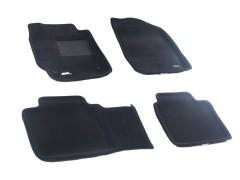 Коврики в салон для Toyota Camry V40 '06-11 текстильные 3D чёрные (3D Mats)
