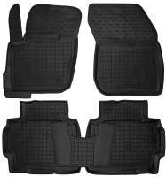 Коврики в салон для Ford Mondeo '15- резиновые, черные (AVTO-Gumm)