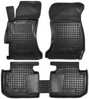 Коврики в салон для Subaru XV '11-16 резиновые, черные (AVTO-Gumm)