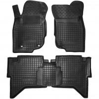 Коврики в салон для Toyota Hilux '05-15 резиновые, черные (AVTO-Gumm)