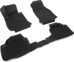 Коврики в салон для BMW 1 F20 '12- хетчбэк полиуретановые 3D черные (L.Locker)