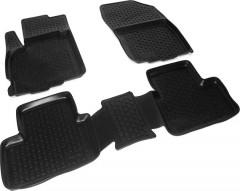 Коврики в салон для Citroen C4 Aircross '12- полиуретановые, черные (L.Locker)