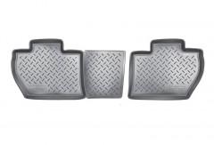 Коврики в салон для Peugeot Partner '08-12 задние, 3 дв. полиуретановые, черные (Nor-Plast)