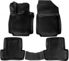 Коврики в салон для Renault Clio IV '13- хетчбэк полиуретановые 3D черные (L.Locker)