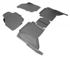 Коврики в салон для Toyota Hilux '08-11 полиуретановые, черные (Nor-Plast)