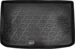 Коврик в багажник для Renault Clio '05- хетчбэк резино/пластиковый (L.Locker)