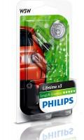 Автомобильная лампочка Philips LongLife EcoVision W5W 12V 5W (комплект: 2 шт.)