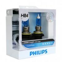 Автомобильная лампочка Philips DiamondVision HB4 12V 55W (комплект: 2 шт.)