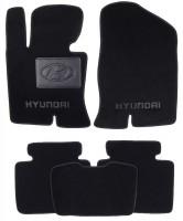 Коврики в салон для Hyundai Sonata '10-15 текстильные, черные (Люкс)