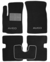 Коврики в салон для Chevrolet Aveo '04-11 текстильные, серые (Люкс)
