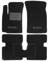 Коврики в салон для Chevrolet Aveo '04-11 текстильные, черные (Люкс)