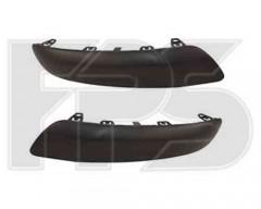 Накладка заднего бампера Peugeot 308 '08-11, хетчбек, черный, левая (FPS)