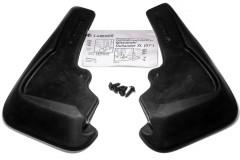 Брызговики передние для Mitsubishi Outlander XL '10-12, с пластиковыми накладками на порогах (Lada Locker)