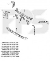 Ремонтная часть верхней панели воздухозаборника Nissan Tiida '05-, правая (FPS)