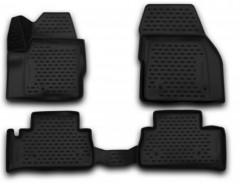 Коврики в салон 3D для Land Rover Freelander II '13-14 полиуретановые, черные (Novline / Element)