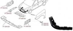Защита бампера передняя Hyundai Elantra HD '06-10 (FPS)