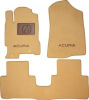 Коврики в салон для Acura RDX '06-13, текстильные, бежевые (Премиум)