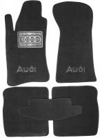 Коврики в салон для Audi 80 '86-94  текстильные, черные (Люкс)