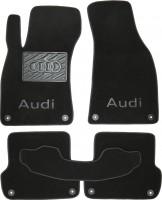 Коврики в салон для Audi A4 '05-08  текстильные, черные (Премиум)  8 клипс