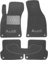 Коврики в салон для Audi A4 '05-08  текстильные, серые (Премиум)  8 клипс
