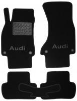 Коврики в салон для Audi A4 '08-15 текстильные, черные (Премиум) 4 клипсы
