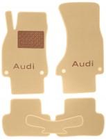 Коврики в салон для Audi A4 '08-15 текстильные, бежевые (Премиум) 4 клипсы