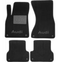 Коврики в салон для Audi A6 '11-14 текстильные, черные (Люкс) 8 клипс