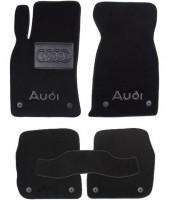 Коврики в салон для Audi A6 '97-05  текстильные, черные (Премиум) 8 клипс