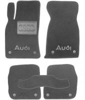 Коврики в салон для Audi A6 '97-05  текстильные, серые (Премиум) 8 клипс
