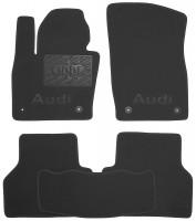 Коврики в салон для Audi Q3 '11-  текстильные, черные (Люкс) 4 клипсы