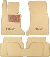 Коврики в салон для BMW 5 E60 '03-10  текстильные, бежевые (Премиум)