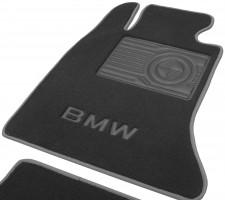 Фото товара 5 - Коврики в салон для BMW 5 F10/11 '10-13 текстильные, серые (Премиум)