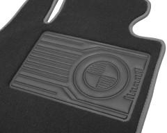 Фото товара 6 - Коврики в салон для BMW 5 F10/11 '10-13 текстильные, серые (Премиум)