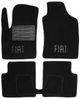 Коврики в салон для Fiat 500 '08-  текстильные, черные (Премиум)