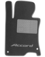 Фото товара 2 - Коврики в салон для Honda Accord 8 '08-13 EUR  текстильные, серые (Премиум)