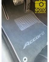 Фото товара 10 - Коврики в салон для Honda Accord 8 '08-13 EUR  текстильные, серые (Премиум)