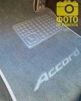 Фото товара 12 - Коврики в салон для Honda Accord 8 '08-13 EUR  текстильные, серые (Премиум)