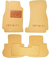 Коврики в салон для Infiniti FX '03-08  текстильные, бежевые (Премиум)