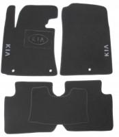 Коврики в салон для Kia Cerato '13-17  текстильные, серые (Люкс)