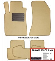 Коврики в салон для Lancia Musa '04-12  текстильные, бежевые (Люкс)