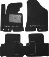 Коврики в салон для Kia Sportage '10-15  текстильные, черные (Премиум)