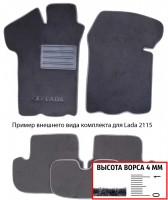 Коврики в салон для Lada (Ваз) Niva 2121 '94-06 3 дв.  текстильные, серые (Люкс)
