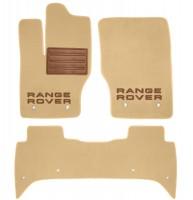 Коврики в салон для Land Rover Range Rover '13-  текстильные, бежевые (Премиум)