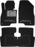 Коврики в салон для Mazda 3 '14- текстильные, черные (Премиум)