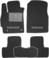 Коврики в салон для Mazda CX-7 '06-12 текстильные, серые (Премиум)