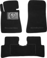 Коврики в салон для Mercedes C-Class W202 '93-01  текстильные, черные (Премиум)