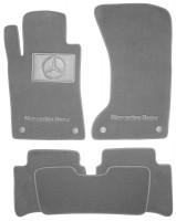 Коврики в салон для Mercedes E-Class W211 '02-09 4matic  текстильные, серые (Люкс) 4 клипсы