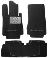 Коврики в салон для Mercedes S-class W220 '98-05  текстильные, черные (Люкс)